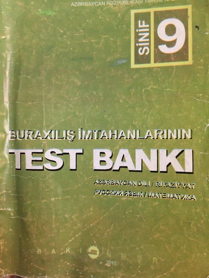 Bakı şəhərində Buraxilis imtahanlarinin test banki 9cu sinif