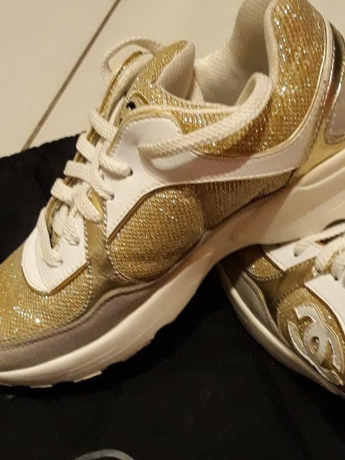 Παπούτσια αθλητικά τύπου Chanel, άριστη κατάσταση, νούμερο 37. Photo 4