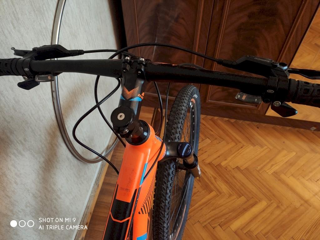Isma velosipedi, amartizatorlu, 9 pilleli ve ideal veziyyetde