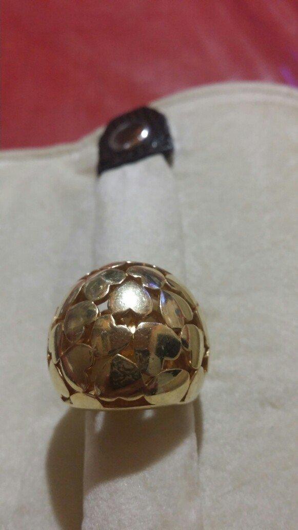 Δακτυλίδι ασημί με επικαλειψη χρυσού  σε Ζωγράφου