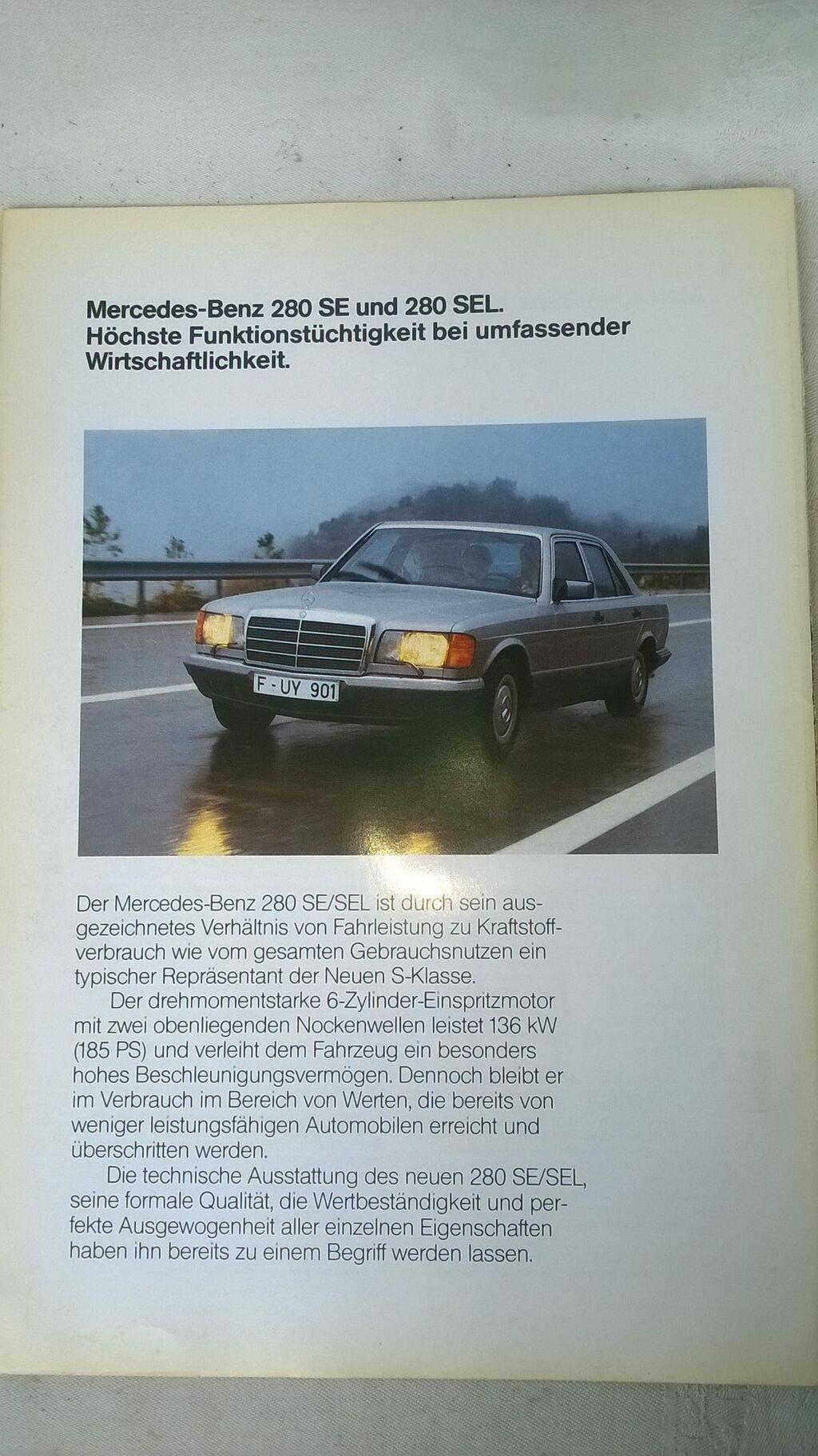 Prospekt Mercedes 280S,280SE,280SEL 8 str. nem