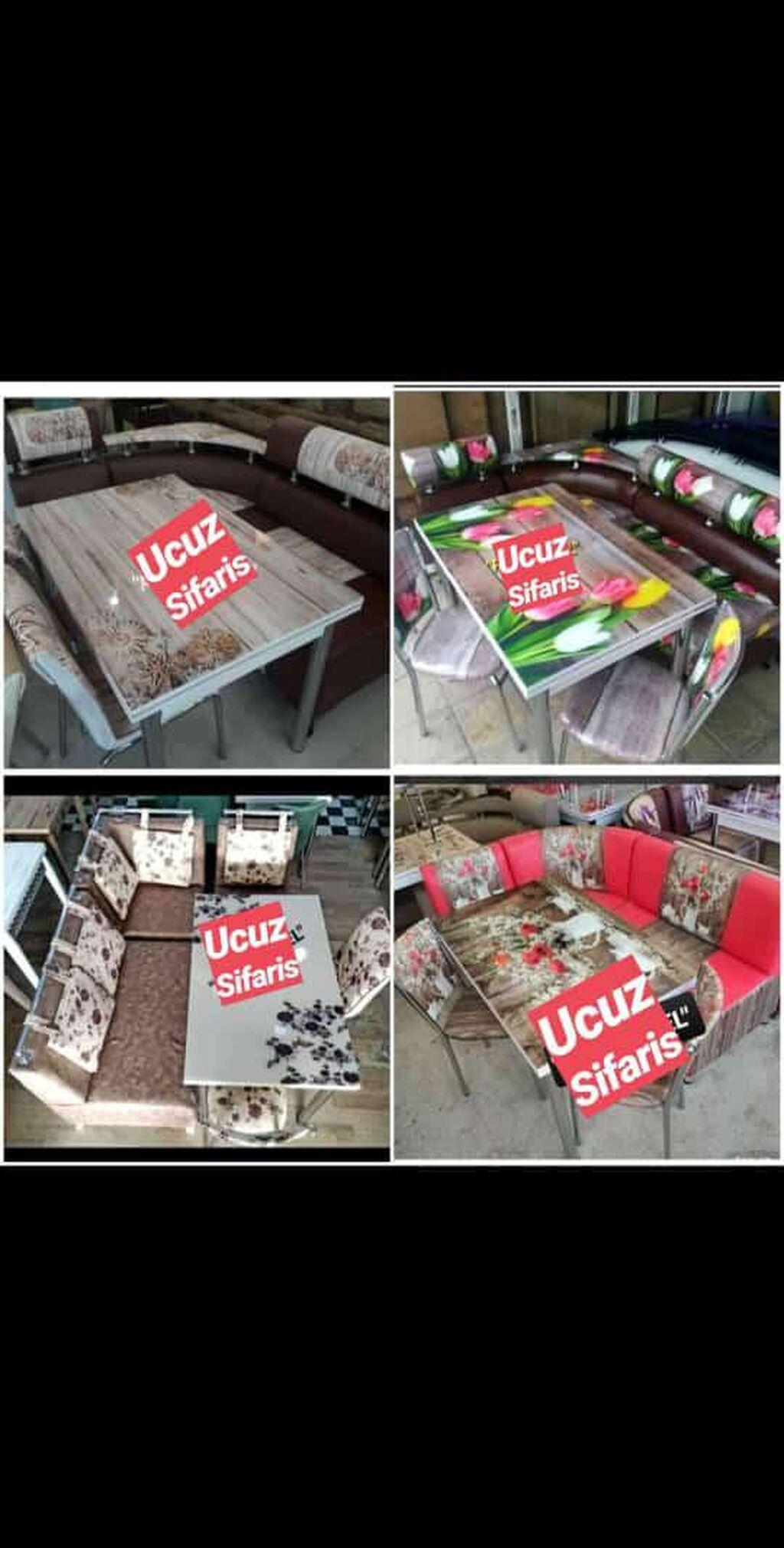 Turkiye istesali masa destleri reng secimi var divan, acilan masa, 2 stulla satilir 400azn seherdaxili catfirilma var(Guler)