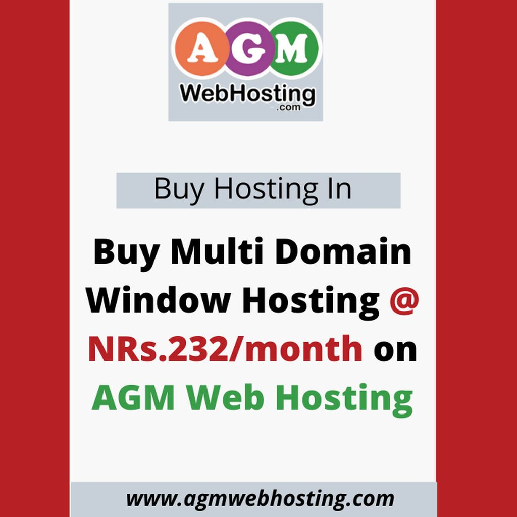 Buy Multi Domain Window Hosting @ NRs