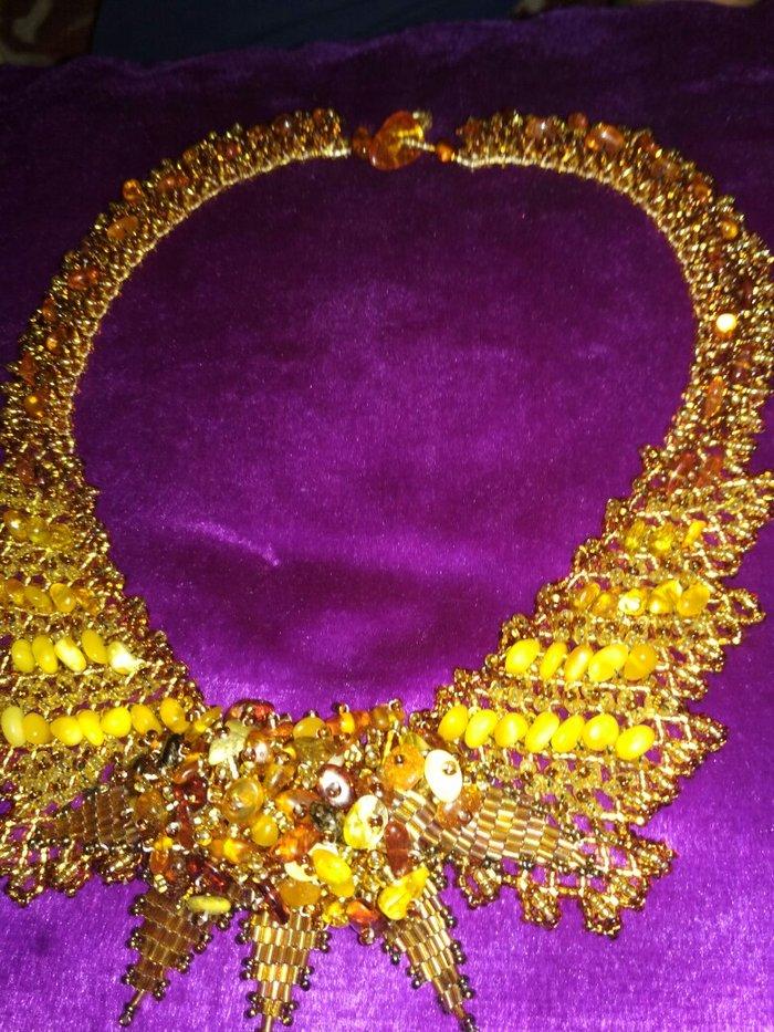 Ожерелье с Камнем сердолик. Photo 0
