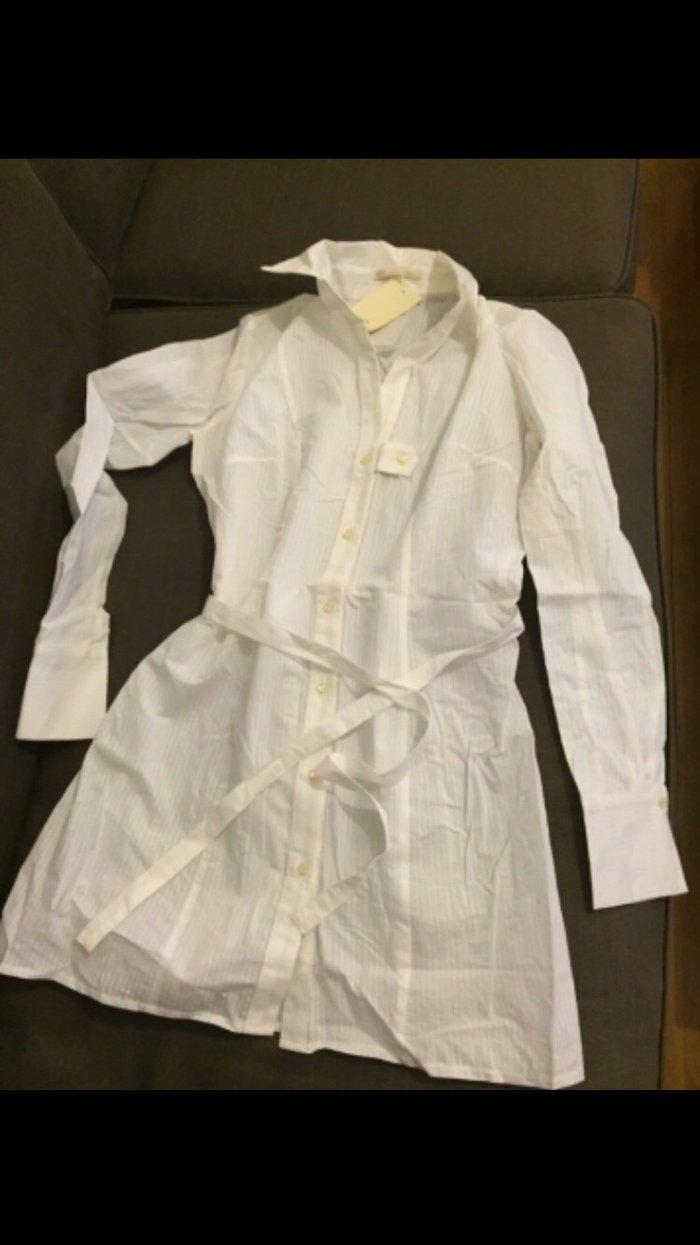 Λευκό μακρύ πουκάμισο - μίμι φόρεμα BSB Καινούργιο ,Αφόρετο . Νο small σε Υπόλοιπο Αττικής
