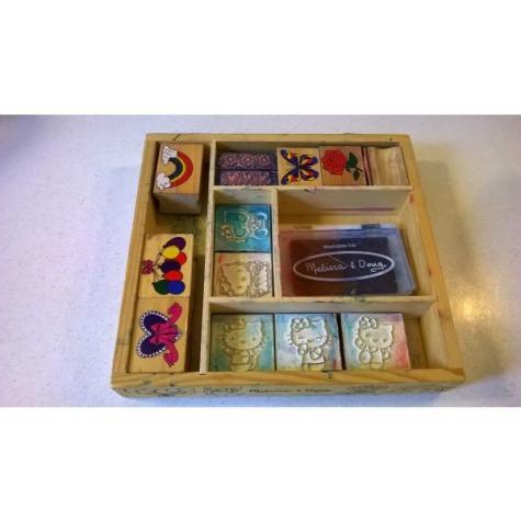 Melissa & Doug Wooden Stamp Set - Μεταχειρισμένο