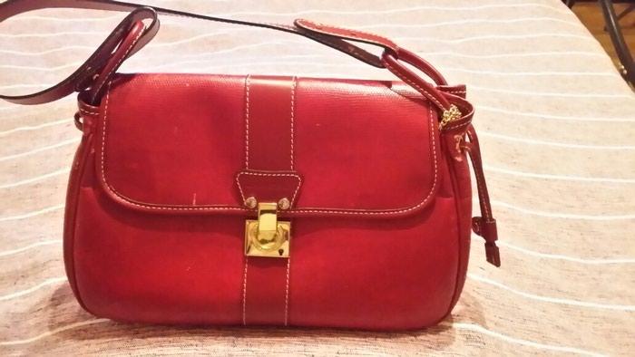 Κοκκινη τσάντα δερμάτινη Lancel με κλειδί αυθεντικη ώμου η χειρος σε  Ζωγράφου 377f5a0fd41