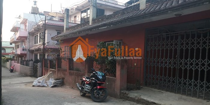 1 stories house having land are 0-4-0-0, 10 feet pitched road, facing in Kathmandu