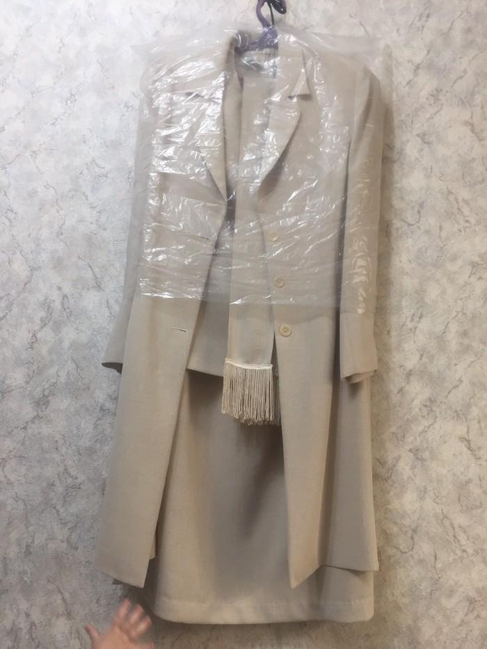 Продаю костюм тройка юбка длинная по  в отличном состоянии 46р . Photo 0