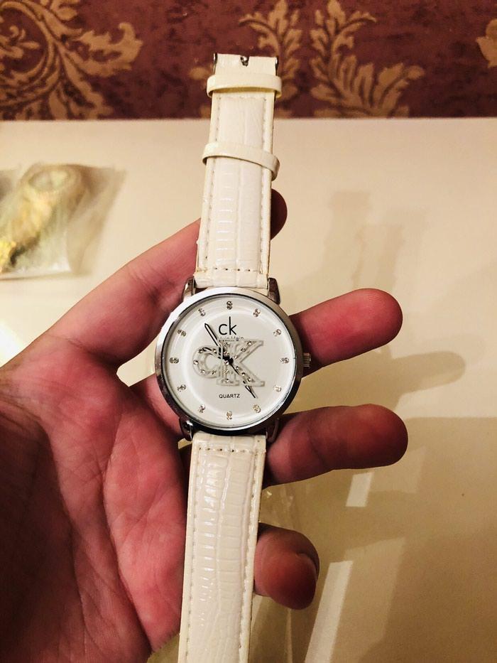 Qadın Ağ Dəbli Qol saatı Calvin Klein. Photo 1