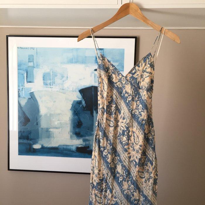 Αυθεντικό Ralph Lauren αμάνικο, μεταξωτό,maxi. Photo 2