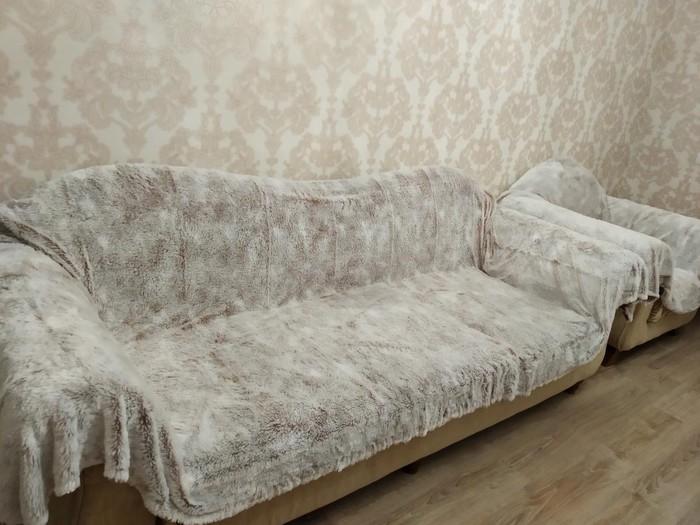 Накидка на диван и 2 кресла, все за 2000 . Photo 0