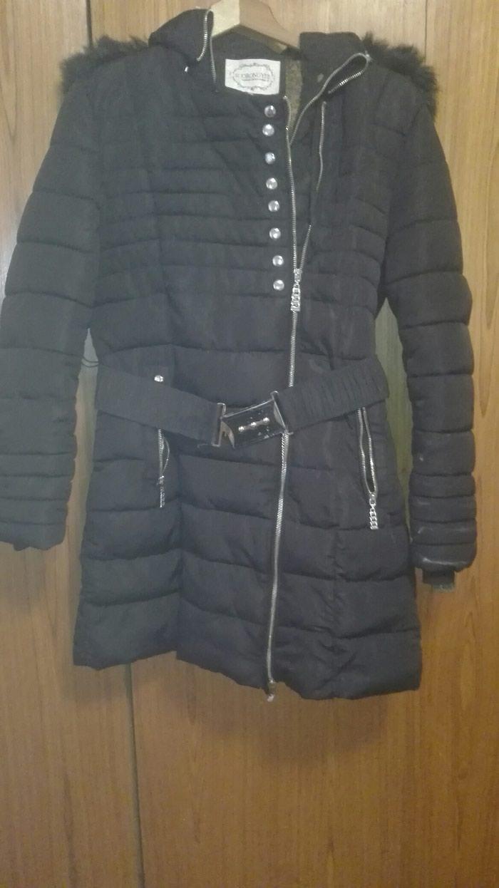 Zimska topla italijanska jakna prirodno krzno vel Xl - Beograd