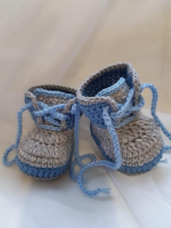 Пинетки-ботиночки для мальчика. Photo 0