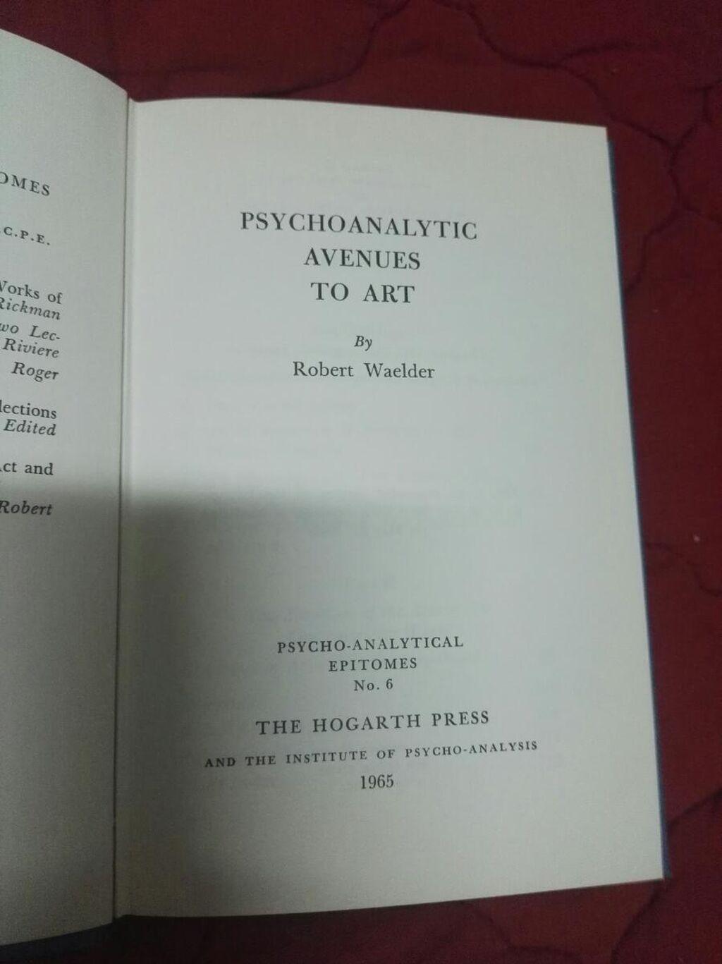 Psyhoanalytic avenues to art R.W