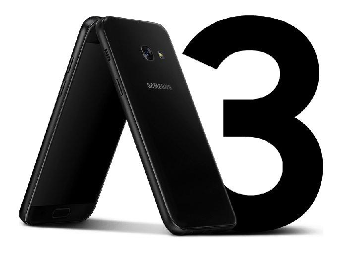 Samsung Galaxy A3 2017 Black Duos. Photo 0