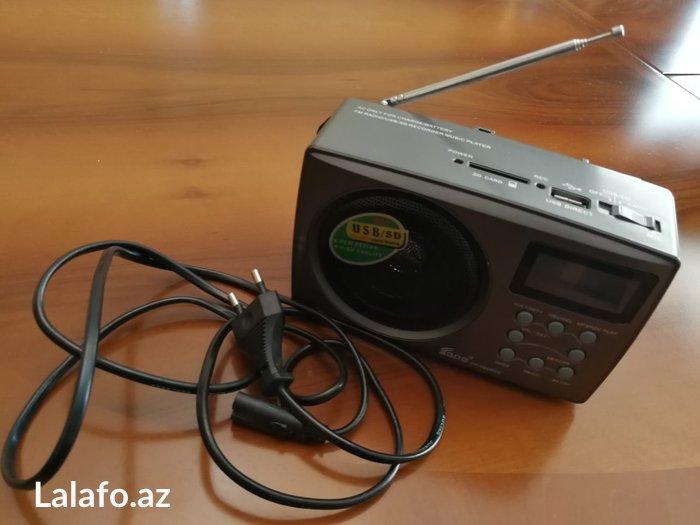 Bakı şəhərində Radio + mp3 player. Hem akkumlyatorla hem de batareyka ilə işleyir. Ba