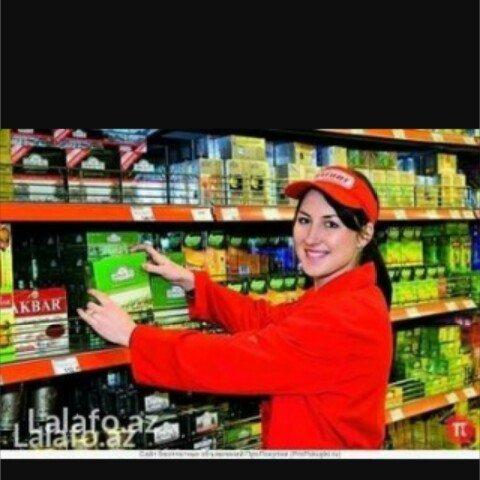 Xırdalan şəhərində Xırdalanda yerleşen iri şəbəkə markete satıcı xanım tələb