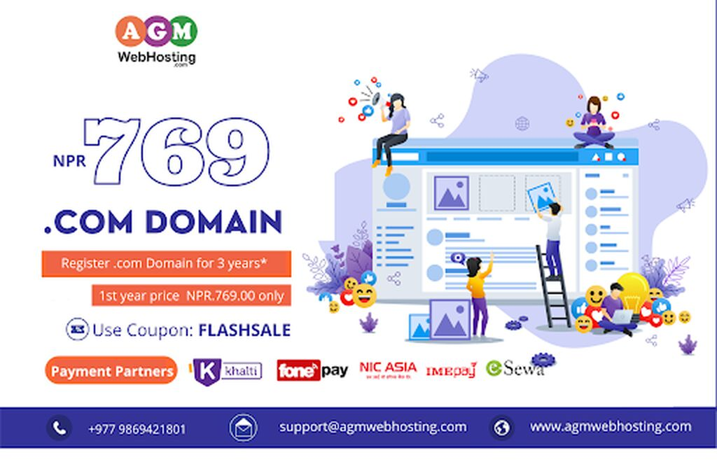 IT, Internet, Telekom - Kathmandu: Cheapest Domain Registration Services-AGM Web Hosting (FLASHSALE)