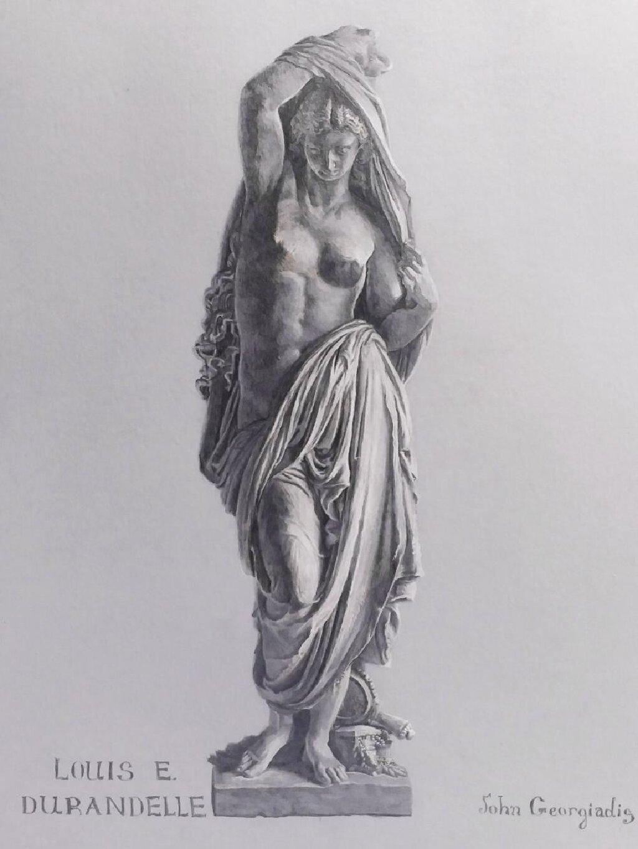 """Άγαλμα σχέδιο σε χαρτί """" Αφροδίτη """""""