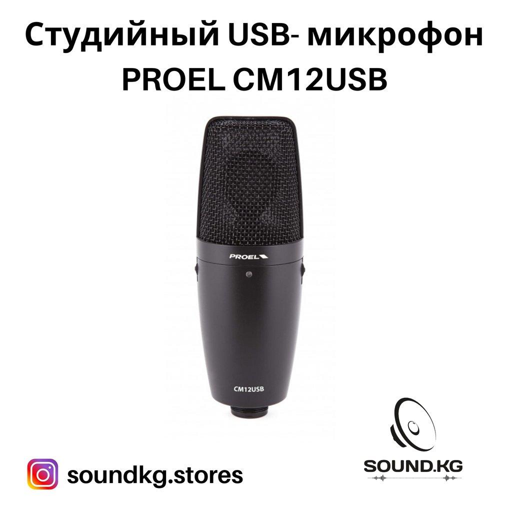 Студийный USB- микрофон - PROEL CM12 USB - в наличии!!!