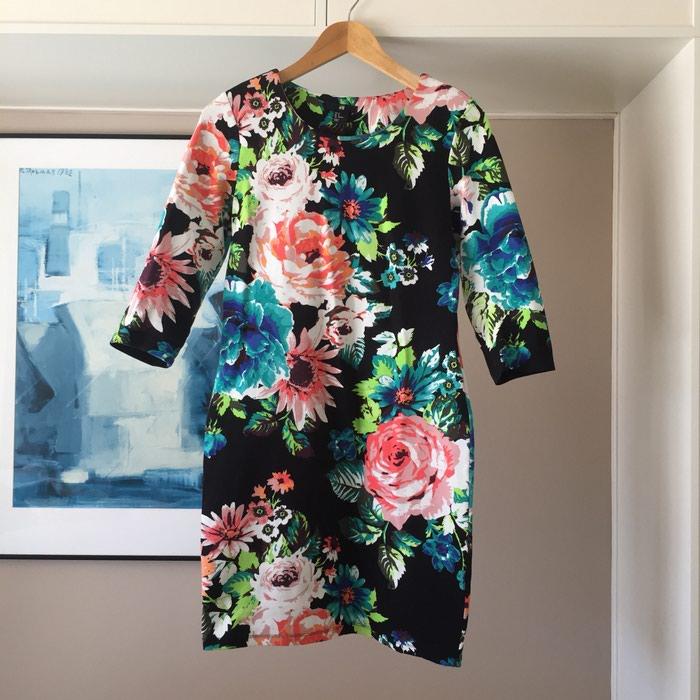 Ολοκαίνουργιο H&M μαύρο floral φόρεμα.. Photo 1