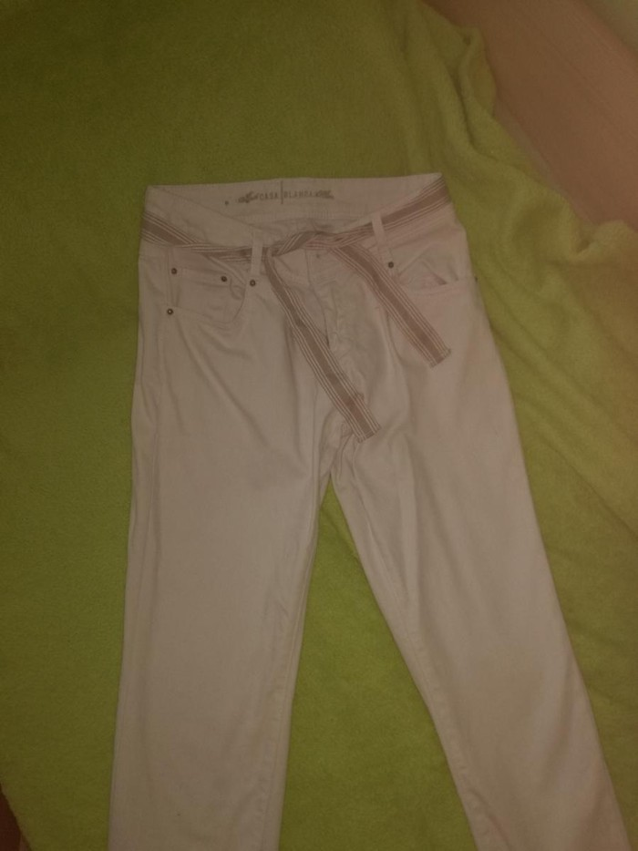 Bele dublhe pantalone