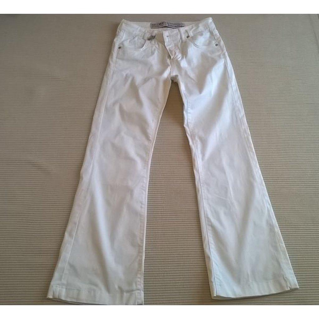 Παντελόνι Zuelements καμπάνα άσπρο - Μέγεθος 26 - Μέση 83 εκατ