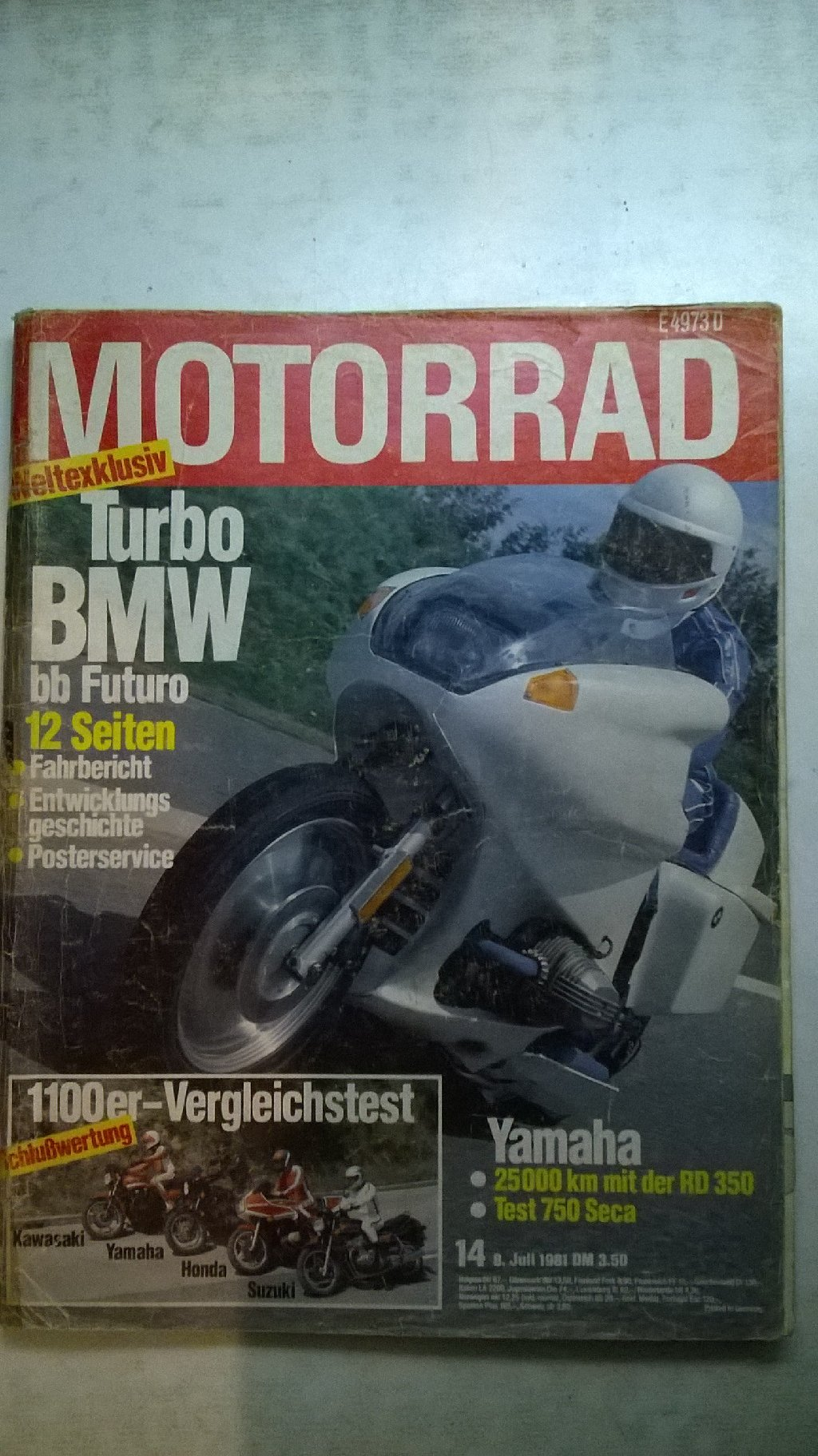 Časopis Motorrad br.14 1981