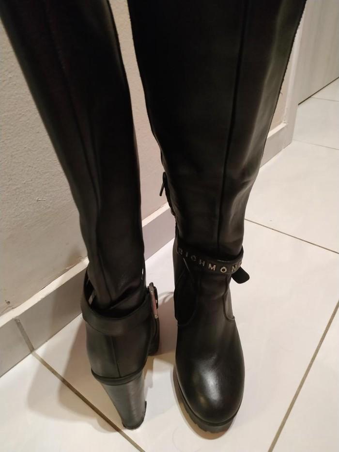 Μπότες μέχρι γόνατο, δέρμα, Richmond, νούμερο 36, σχεδόν καινούριες. Photo 3