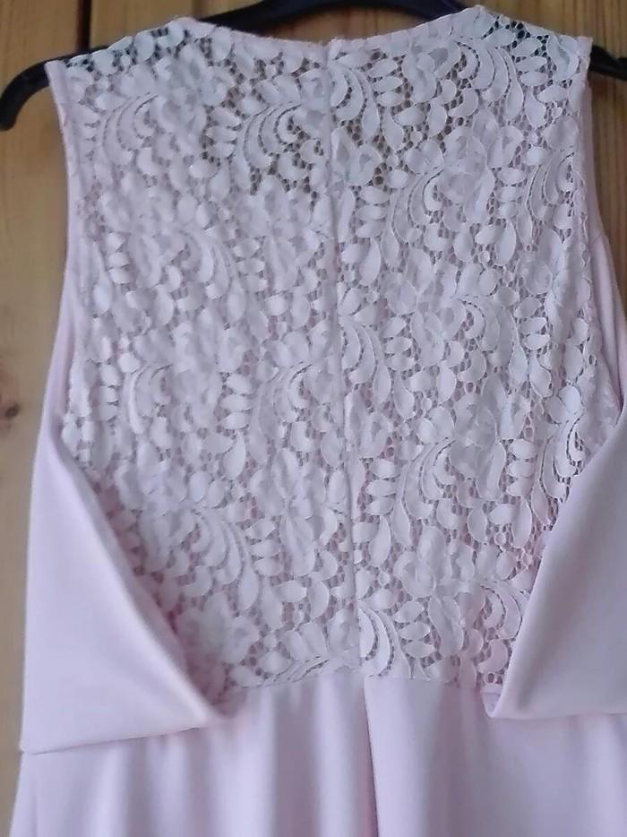 Ροζ απαλό φόρεμα για βαφτίσια και γάμους νούμερο Μ/L. Photo 3