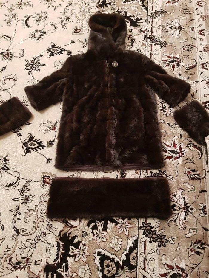 Срочно продаю дёшево Норковая шуба..свет темно коричневый размер 46 48 в Бишкек