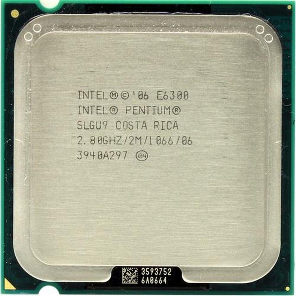 Intel pentium dual core Е6300. 2.80GHz. 750сом. LGA-775 Без торга