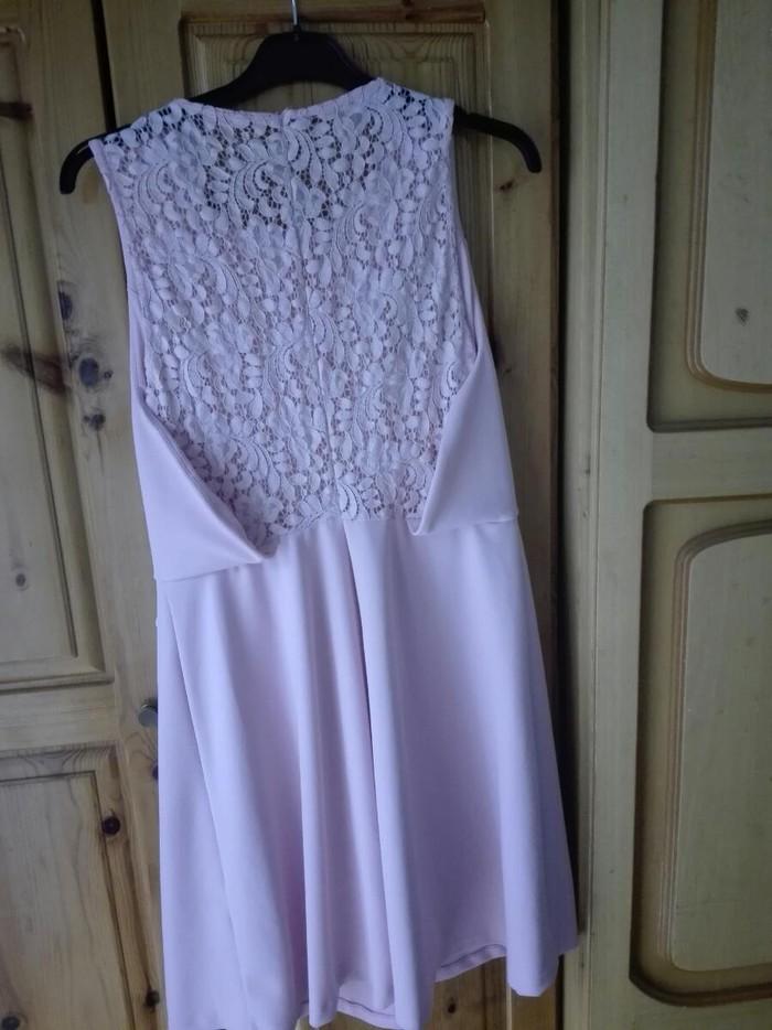Ροζ απαλό φόρεμα για βαφτίσια και γάμους νούμερο Μ/L. Photo 1