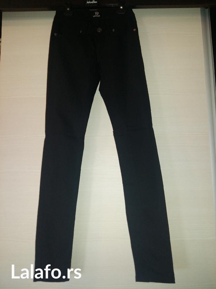 Pantalone versace original  vel. 26/34, pantalone sa elastinom, bez - Novi Sad