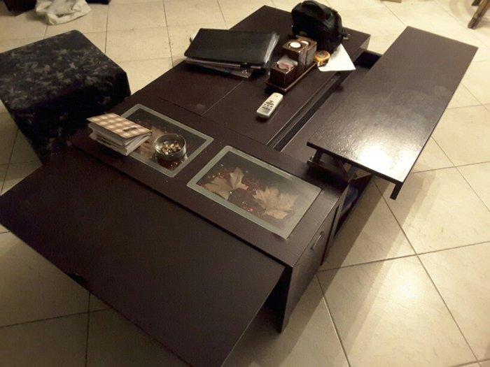 Τραπέζι σερβιτόρα Δρυς βεγγε 1.30×0.90 και έχει ένα φύλλο προέκταση στ σε Ξάνθη