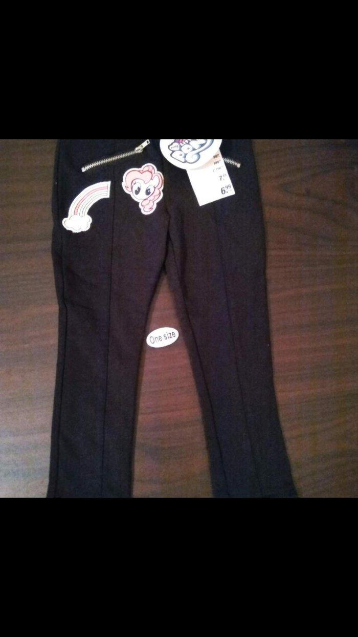 Παιδικό παντελονι μαυρο με λάστιχο. Photo 0