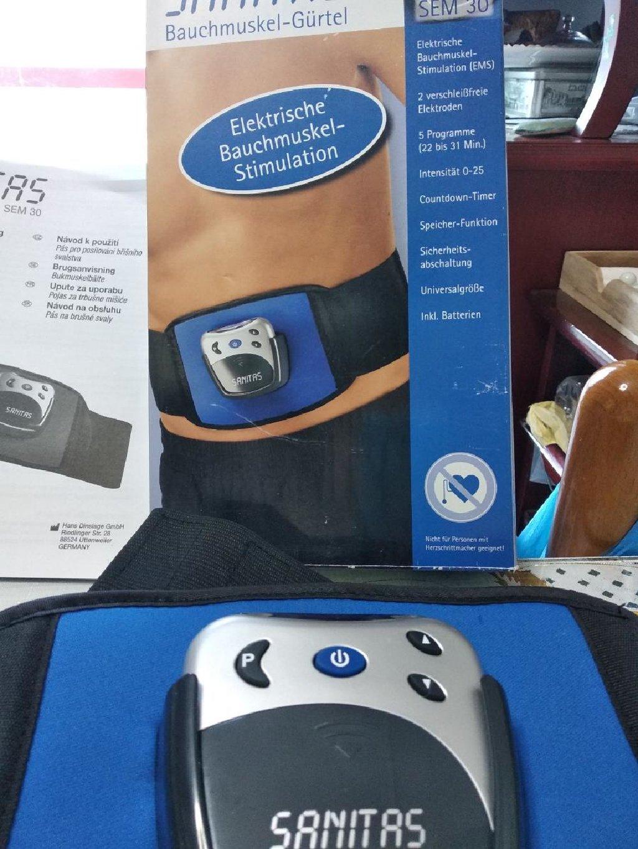 Πωλούνται μια ζώνη εκγύμνασης Sanitas και μια συσκευή που λειτουργεί με υπερύθρες ακτινοβολιες Cavitat για καύση περιττού λίπους
