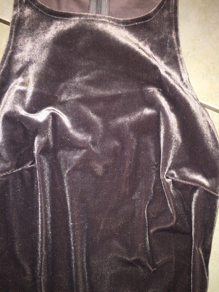 Γκρι - ασημί βελουτέ μίνι φορεμα με. Photo 2