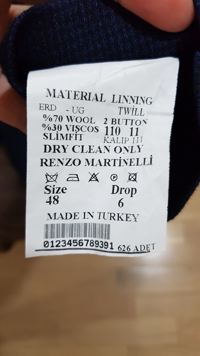 Kostyum  ,  yenidir , razmer 48 . Made in Turkey.. Photo 2
