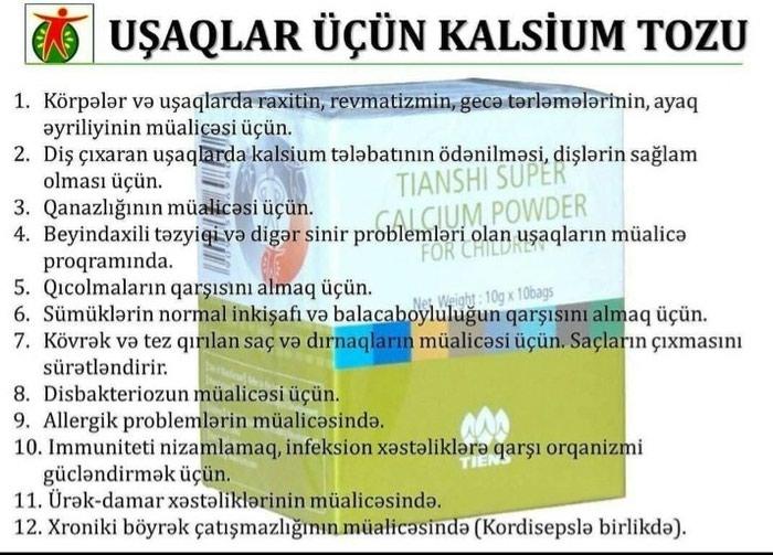 Bakı şəhərində Tibet məhsulu Uşaq kalsiumu