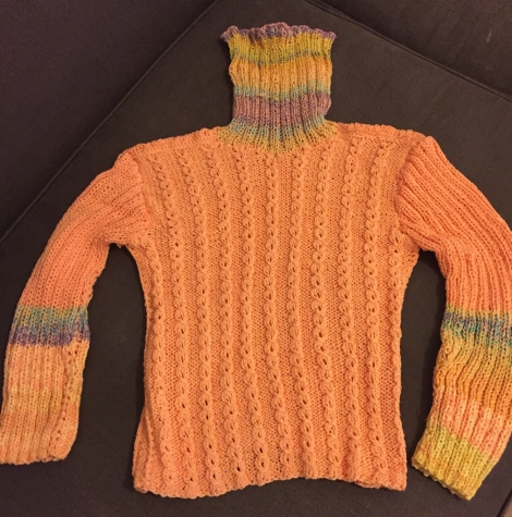 100% Cotton hand made sweater . Size M