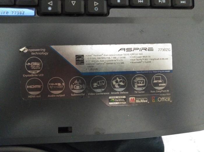 Laptop ACER ASPIRE 7730 ZG