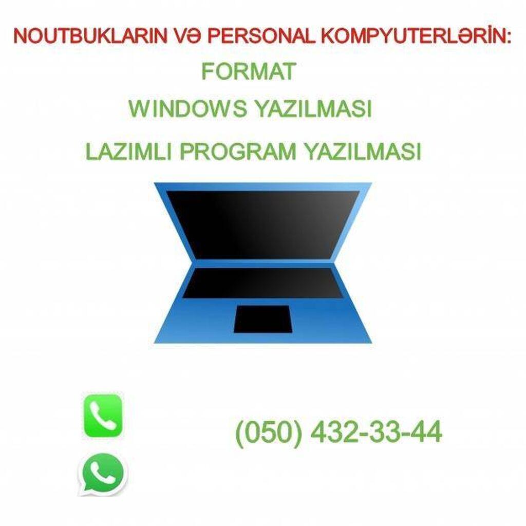 Notebookların və personal kompyüterlərin formatı, Windows və lazımlı: Notebookların və personal kompyüterlərin formatı, Windows və lazımlı