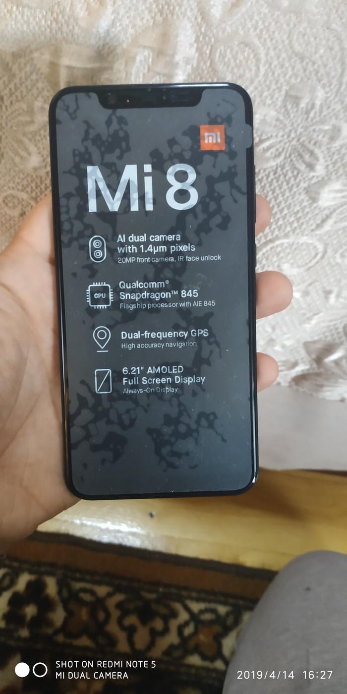 Xiaomi Mi 8 6/128Gb за 3200 TJS в Душанбе: Xiaomi на lalafo tj