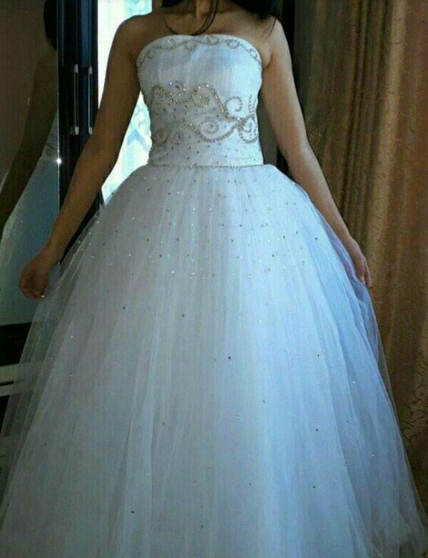 60e744b9a8e6d96 Свадебная платья (срочно торг), цена: 3000 KGS в категории Свадебные ...