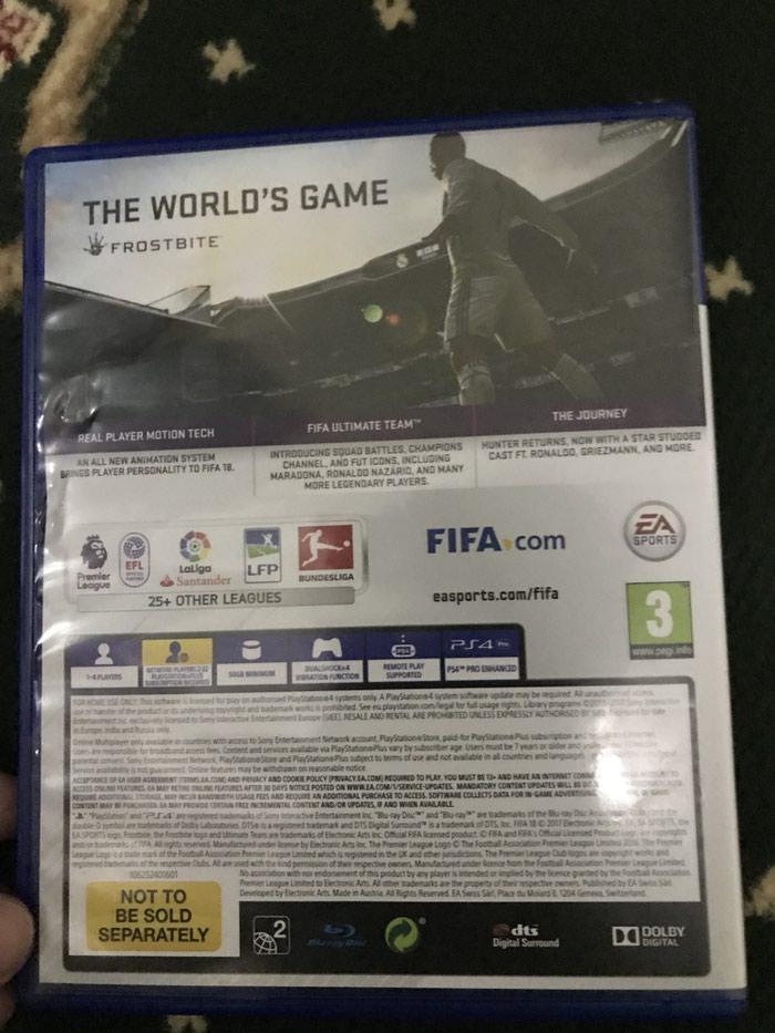Игра фифа 18 на PS4 диск в очень хорошем. Photo 1