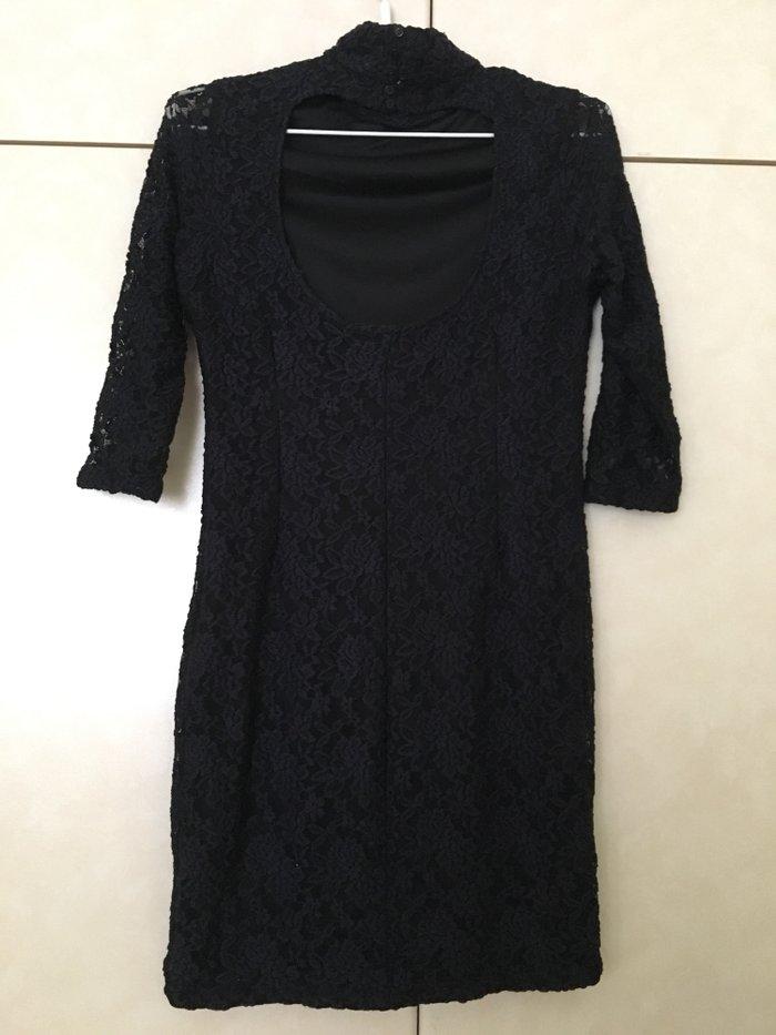 ZARA φορεμα σε μπλε σκουρο σχεδον μαυρο. Photo 3
