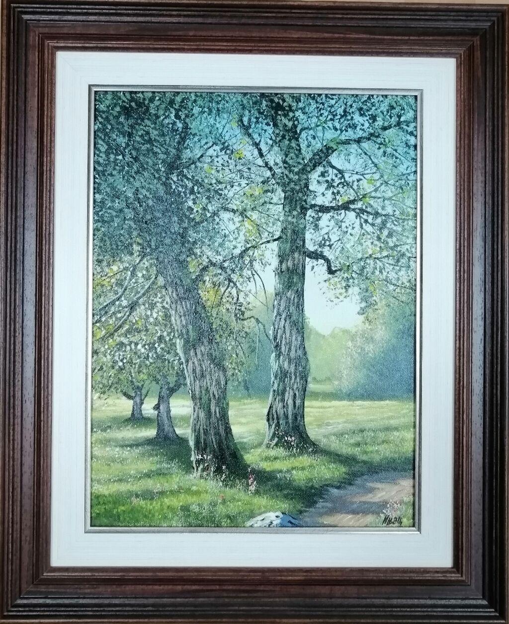 Slike - Beograd: Autor slike Injac Aleksandar, ulje na platnu zategnuto na blind ram, dimenzija slike 30x40 cm plus ram kao na fotografiji