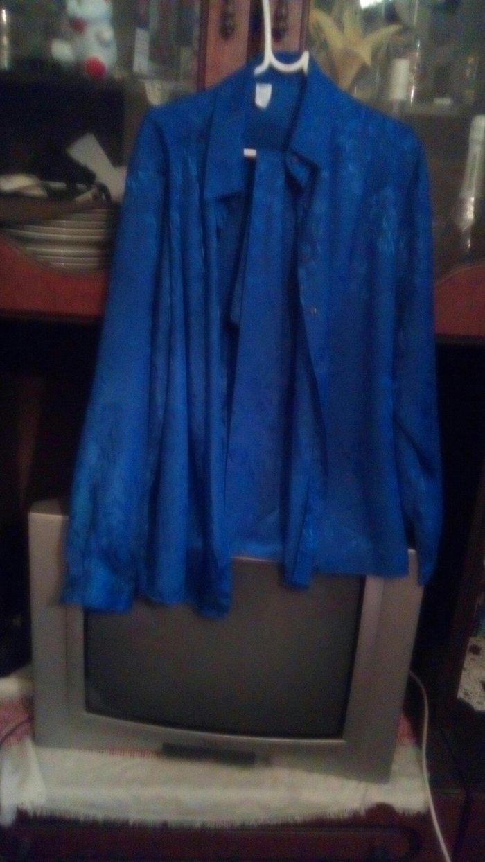 Plavo svi lena kosulja sa jednom obucena1000 - Bogatic